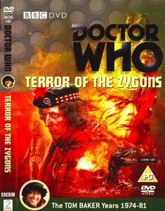 Region 2 DVD cover for Terror of the Zygons