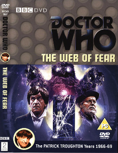 Region 2 DVD cover for The Web of Fear