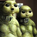 Two members of the Slitheen family