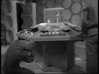 A TARDIS Console being serviced