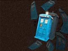 A TARDIS in flight